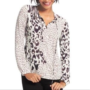 CAbi mixed animal print blouse size medium